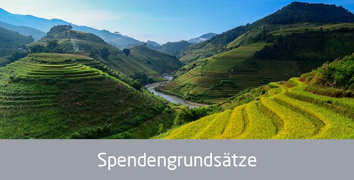 Berge, Text: Spendengrundsätze