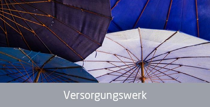 Verschiedene Schirme, Text: Versorgungswerk