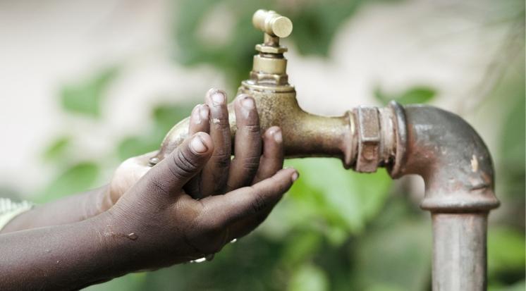 Wasserhahn in Afrika
